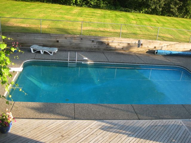Testimonial From A Happy Customer Brown Stained Pool